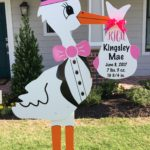 Girl Stork with monogram