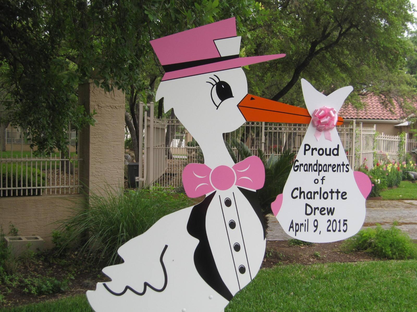 Pink Grandparent stork